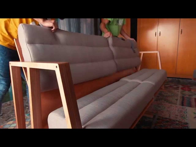 3MOODS - Couch that can be transformed into a table, bed, chaise longue, desk and armchair.