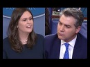 IF THAT WHERE TRUE YOUR RATINGS WOULD BE HIGHER Sarah Sanders MOCKS CNNs Jim Acosta