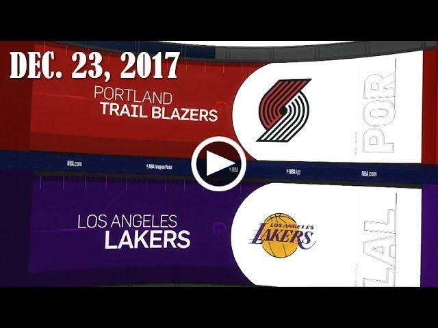 Рortland Trail Blazers - Lа Lаkеrs   23.12.17   201718 NBA Season