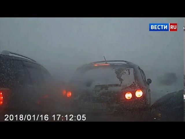 Сегодня ДТП,ДПС на трассе, в Кемеровской области попало на видео ,