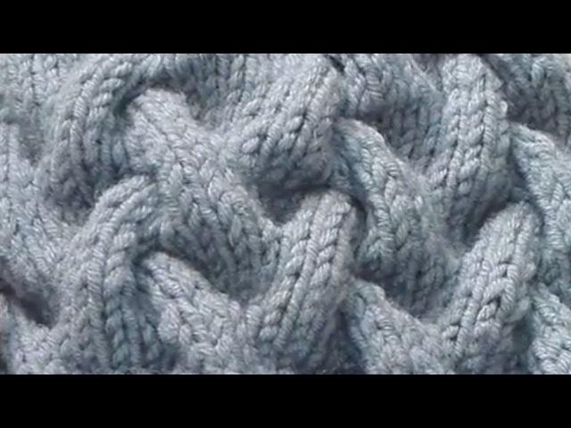 Узор спицами 2. Коса с тенью (Knitting Pattern)