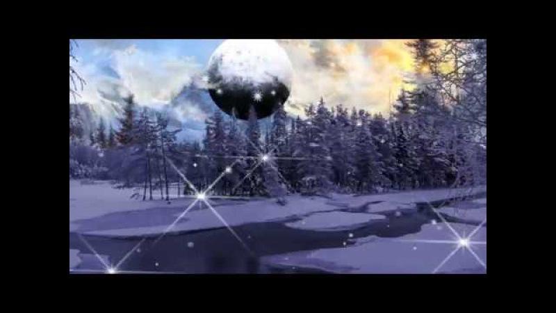НОВИНКА ! Очень красивое видео поздравление , музыкальная открытка с днем рождения в зимой !