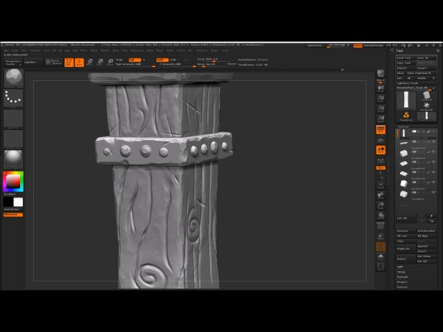 Stylised ZBrush Sculpt - 03 - Wood Sculpting