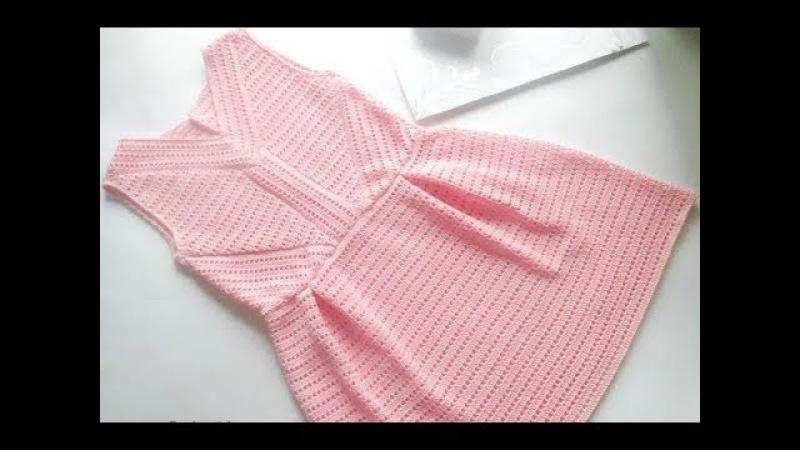 МК вязаное платье крючком Элегия crochet , Вяжем с Мелкой ,платье крючком кружево