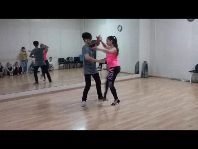 Felipe Garcia and Oksana Zouk demo after advanced class Ipanema dance studio 02.10.17