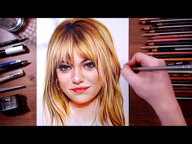 Emma Stone - speed drawing | drawholic