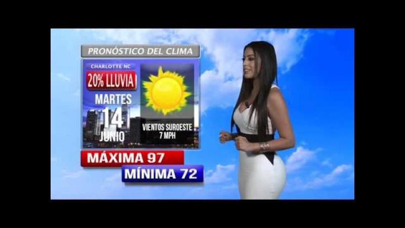 Así estará el clima en Charlotte hoy lunes 13 de junio , Gaby Aguilar nos informa.