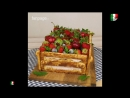 Torta cassetta di frutta Торт ящик с фруктами