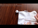 Пинетки зимние на двух спицах Winter baby knitting booties