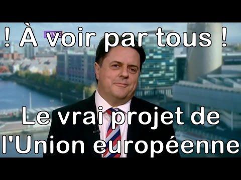 Le projet de l'Union européenne dénoncé par Nick Griffin - Immigration de masse-Métissage-Kalergi