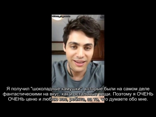 Matthew Daddario Instagram Live April 2018 (Мэттью Даддарио лайв-чат - апрель 2018- русские субтитры)