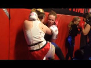Тайский бокс девушки тренировка