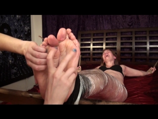 Penny feet and upperbody tickled 2