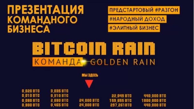 УРА-НОВОСТИ от Команды BITCOIN RAIN.