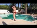 Big Bear dancing poolside to JTs hot new summer jam_...