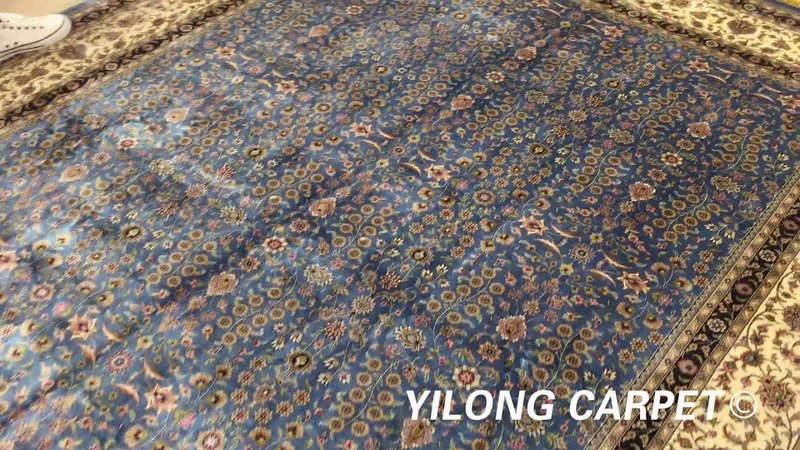 Brilliant Hand knotted Oriental Persian Rug Silk Carpet