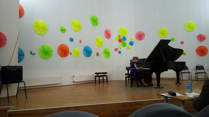 Надя в Костомукше на конкурсе пианистов Баренц-региона.