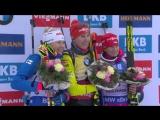 Церемония награждения после женского спринта в Оберхофе (4.01.2018)