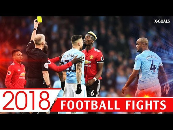 ⚽ BEST FOOTBALL FIGHTS 2018 FOULS RED CARDS ANGRY MOMENTS HD 1018p