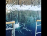 Ныряние в Голубое озеро