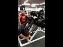 Павел делает жим ногами 350 кг