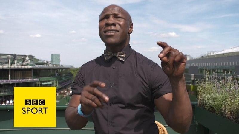 Wimbledon 2017: Chris Eubank gives bizarre interview - BBC Sport