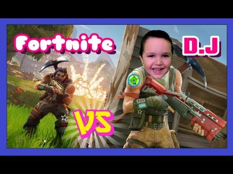 4 YEAR OLD BOY PLAYS SOLO IN FORTNITE BATTLE ROYALE!FORTNITE VS D.J!! Fun with D.J. Elias