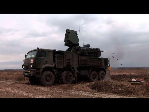 Сто выстрелов в секунду: кадры боевых стрельб ЗРПК «Панцирь С1»