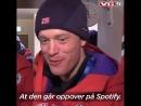 Сборная Норвегии после мужской эстафеты в Пхенчхане (23.02.2018)