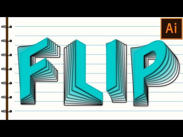 Flip Text Effect in Adobe Illustrator Tutorial
