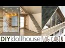 DIY dollhouse: log cabin