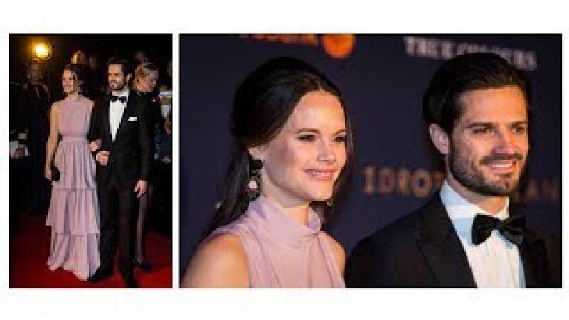 Beautiful Couple Princess Sofia and Prince Carl Philip attended Swedish Sport Gala