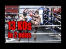 Видеообзор БУЛАТ (РОССИЯ) Muay Thai: 13 Muaythai Knockouts in 2 MINUTES!