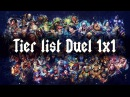 Tier list 1x1 (Patch: 4.23)