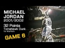 Michael Jordan 32 Points Vs Warriors - VINTAGE TOMAHAWK DUNK! (11.09.2001)