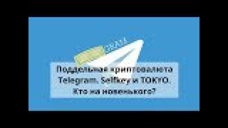 Поддельная криптовалюта Telegram. Selfkey и TOKYO. Кто на новенького?