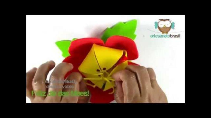 Porta Bombom em EVA - Perfeita para lembrancinha no Dia das Mães!