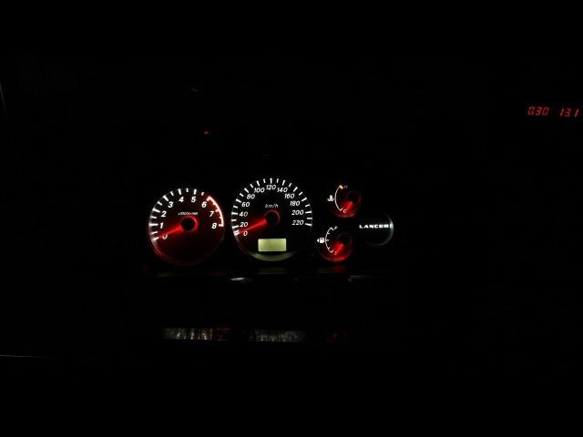 перезалито частично Пересвет приборной панели Mitsubishi Lancer 9 двухцветные платы подсветки