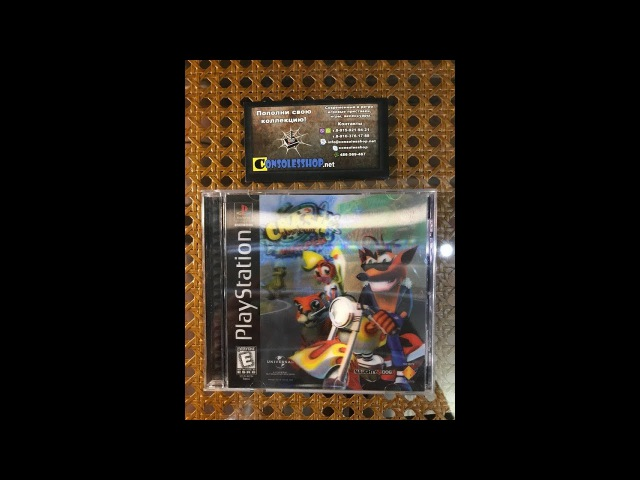 Crash Bandicoot Warped 3D cover NTSC-U для Sony PlayStation 1
