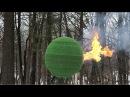 Ele passou quase 1 ano colando 42 mil fósforos para criar esfera e depois queimá la