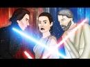 Cartoon Parody Star Wars The Last Jedi