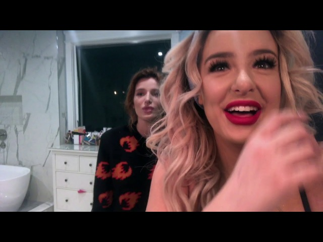 MY CUTE GIRLFRIEND DOES MY MAKEUP w Bella Thorne