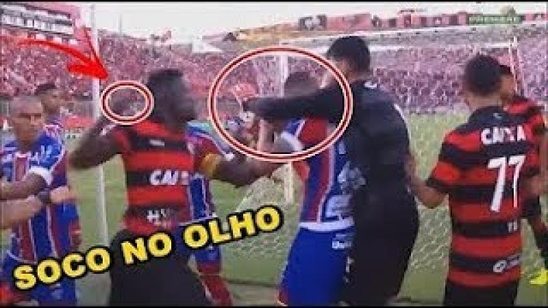 Briga Completa do BA-VI Vitória x Bahia com 9 Expulsões e W.O