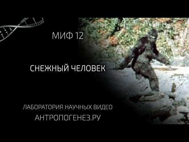 Снежный Человек. Мифы об эволюции человека. cytysq xtkjdtr. vbas j, djk.wbb xtkjdtrf.