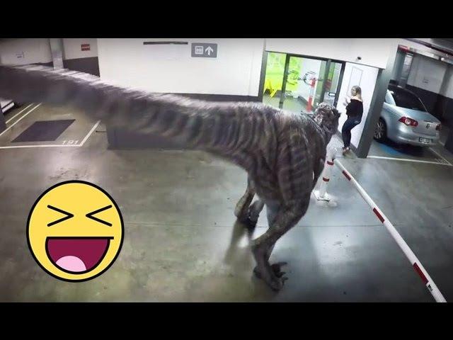VIDEO LUCU BANGET Ngerjain Orang Pakai Dinosaurus ( Best Of Dino Prank Compilation )