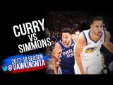 Stephen Curry vs Ben Simmons PG Duel 2017.11.11 - Ben With 13, 8 Asts, Steph With 22, 9!