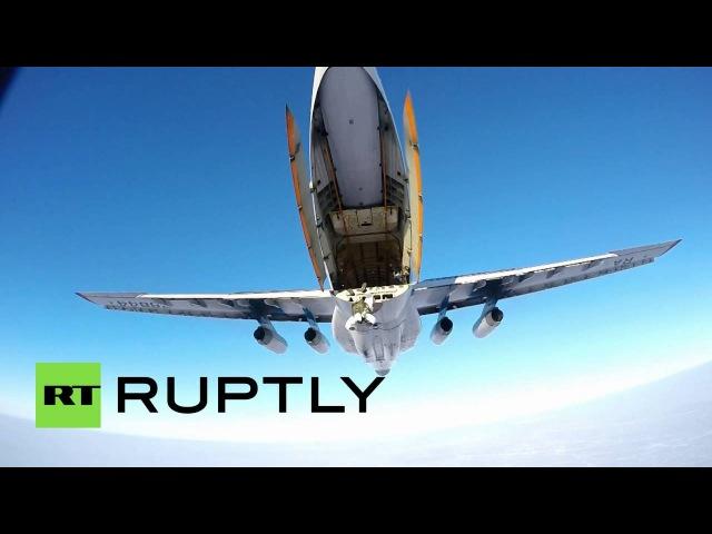 Военные маневры чеченского спецназа в Арктике с беспилотника и GoPro