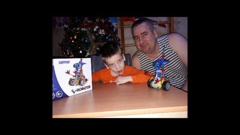 ПОДАРОК ОТ деда Мороза распаковка игрушки конструктор самурай unboxing and review