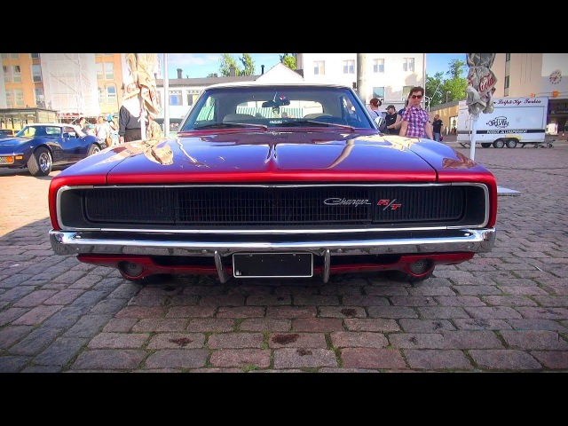 ULTRACOOL 1968 Dodge Charger R T 440 startup and great V8 sound
