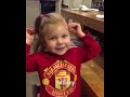 Cute little girl Nyah Rose Lee naming Manchester United players and sings Zlatan song